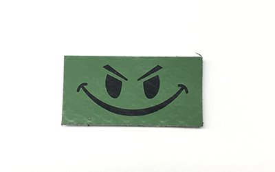 Cejay Engineering Happy Face IR Patch, Small, OD Green
