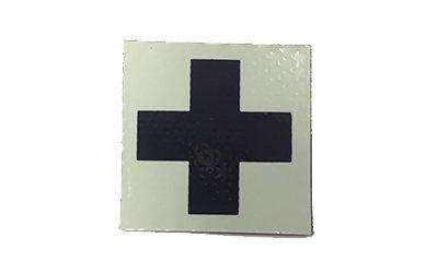 Cejay Engineering Medic Cross IR Patch, Tan Ver. 2 (Black Cross/Tan Background)
