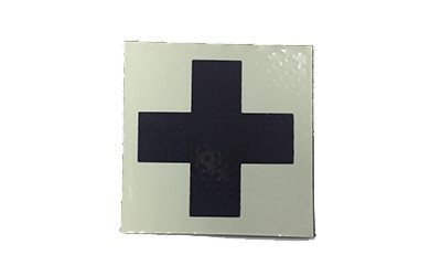 Medic Cross IR Patch, Tan Ver. 2 (Black Cross/Tan Background)