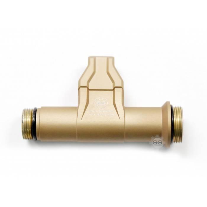 S&S Precision S&S Precision Integrated Flashlight Mount Rigid 6V (Right Rail Grabber), Tan
