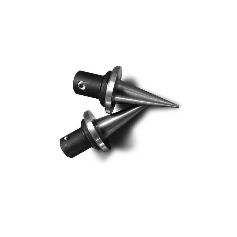 "B&T Industries Accu-Shot Atlas Spike Feet, Pair (2) - Stainless Steel, 1.45"" long Quick Change"