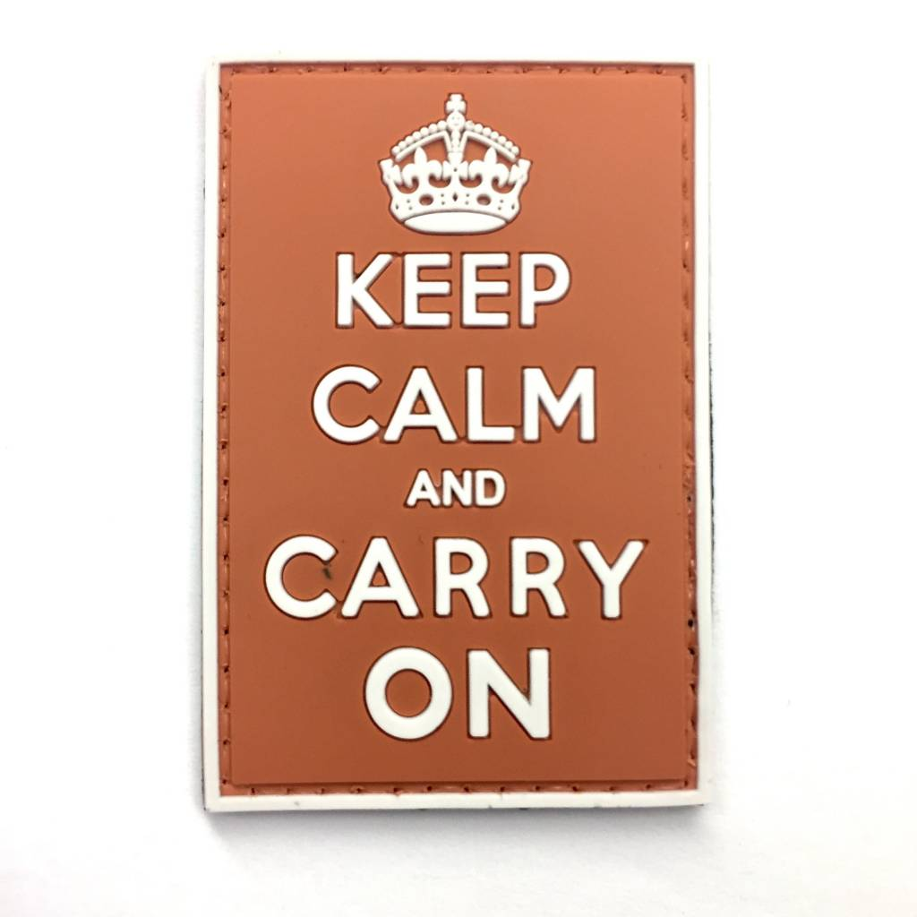 Custom Keep Calm and Carry On PVC Patch