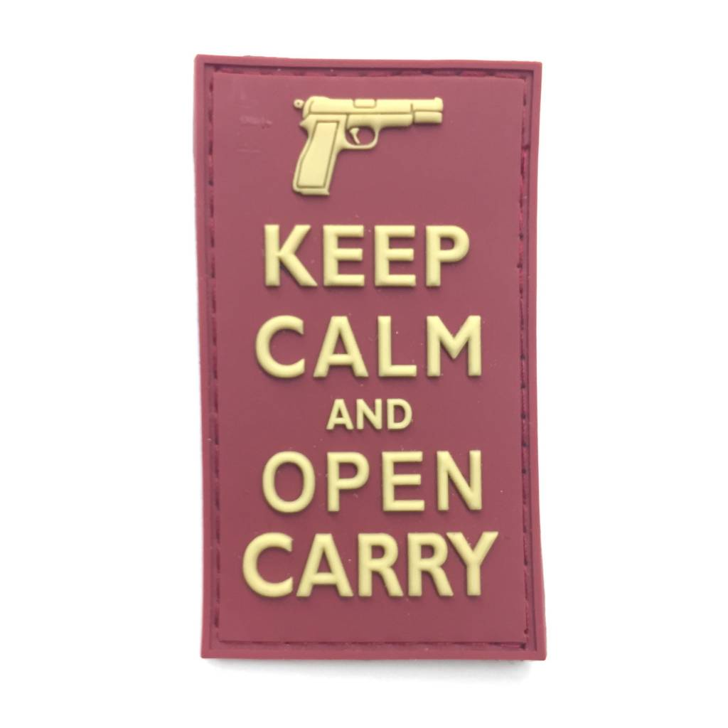 Custom Keep Calm and Open Carry PVC Patch