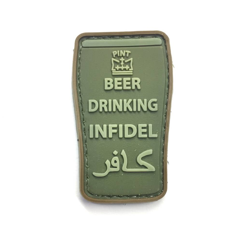 Custom Beer Drinking Infidel PVC Patch