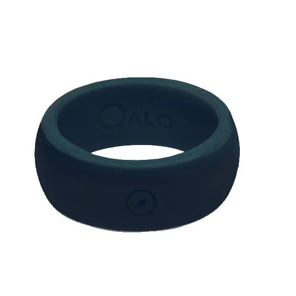 Qalo QALO Men's Silicone Ring, Slate Grey
