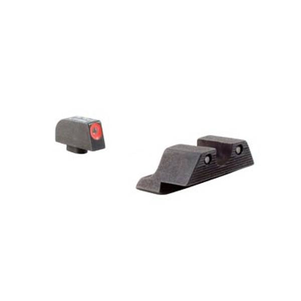 Trijicon HD Night Sight Glock Models 17, 17L, 19, 22, 23, 24, 25,  26, 27, 28, 31, 32, 33, 34, 35, 37, 38 and 39 Set - Orange Front Outline