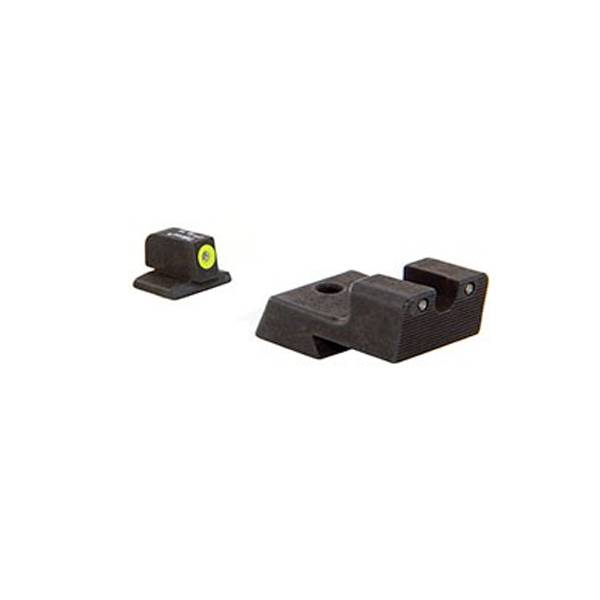 Trijicon HD Night Sight 1911 Novak Cut Set - Yellow Front Outline