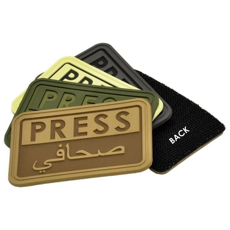 Hazard 4 Hazard 4 Press/Arabic™ reporter rubber velcro patch