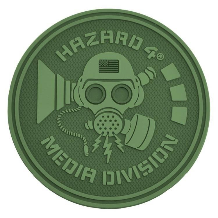 Hazard 4 Hazard 4 Media Division™ rubber velcro patch