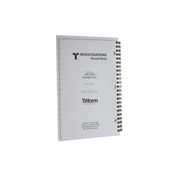"Triform Triform Investigations Record Book 8 1/4"" x 5 1/2"""