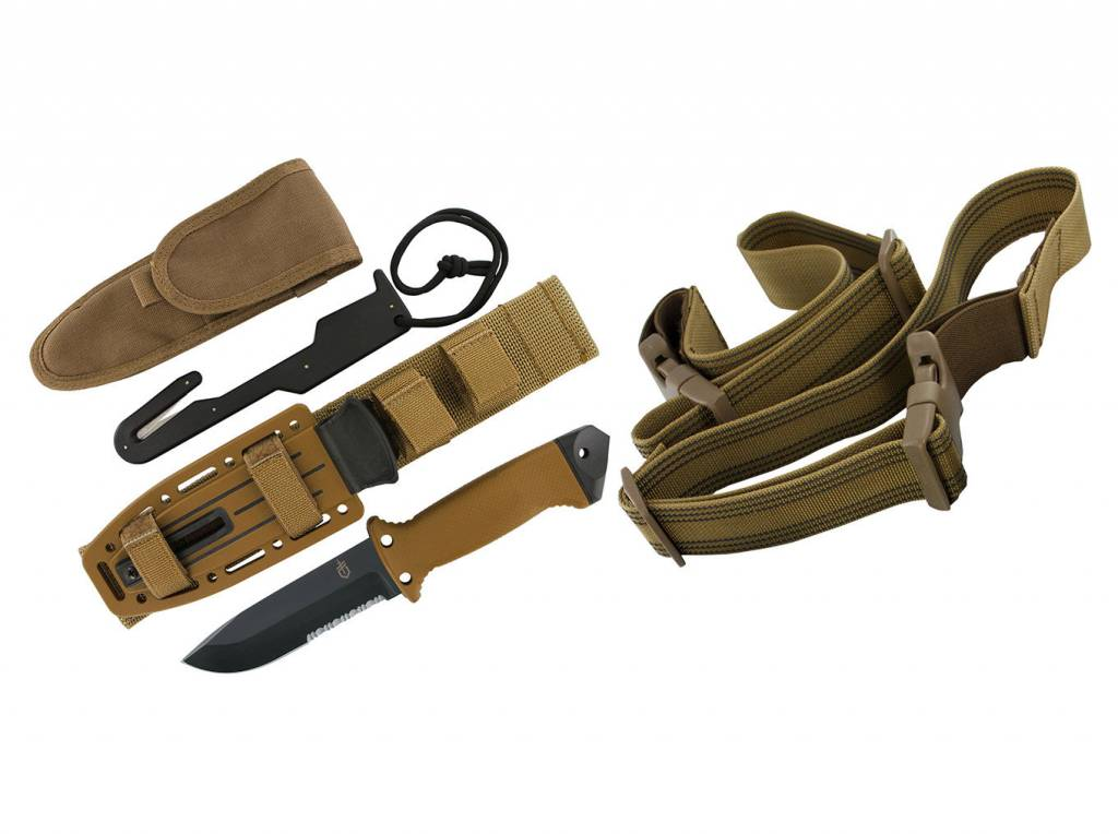 Gerber LMF II Survival Fixed Blade, Coyote Brown