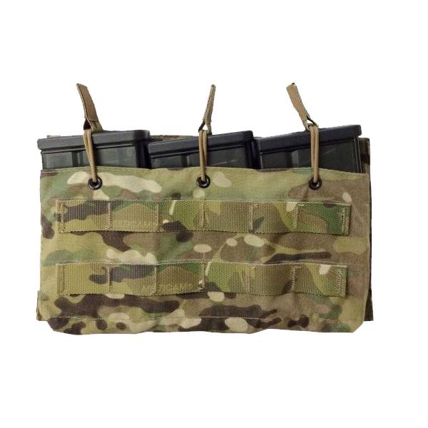 Mayflower Mayflower Helium Whisper Triple HK417 Magazine Pouch, Open Top