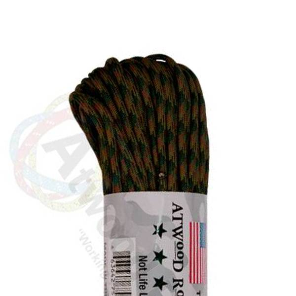 Atwood Rope MFG Atwood Rope MFG 550 Paracord 100ft - Woodland Camo