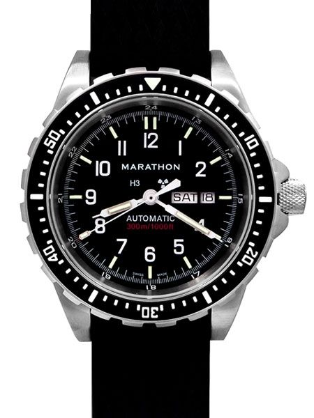 Marathon Watches Marathon Watches Swiss Made Stainless Steel Military Issue Navigator Quartz Watch w/ Date & Tritium
