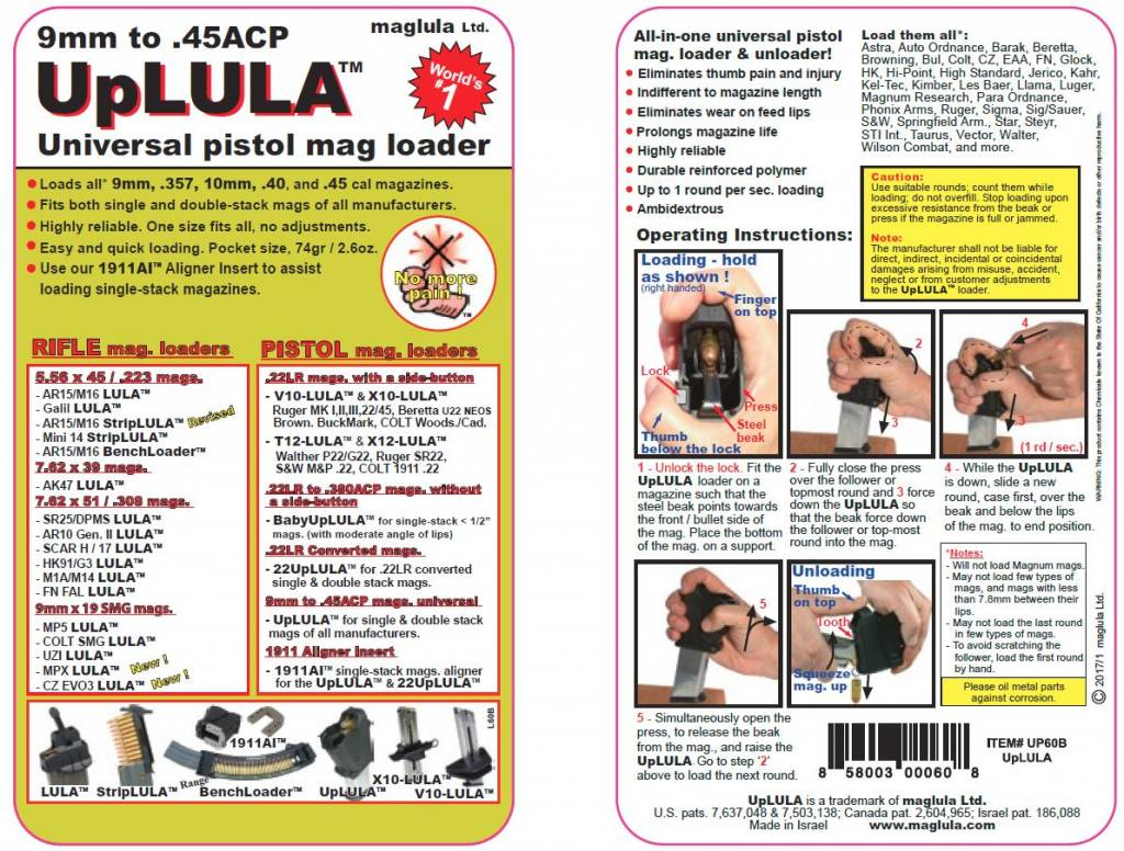 Maglula Maglula UpLULA 9mm to 45ACP Black