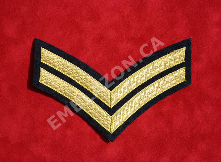 Emblazon Corporal Chevrons - Regimental Size