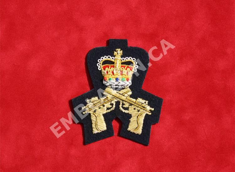 Emblazon Crossed Pistols w/ Crown