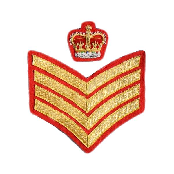 Emblazon Sergeant Major Rank - On Red