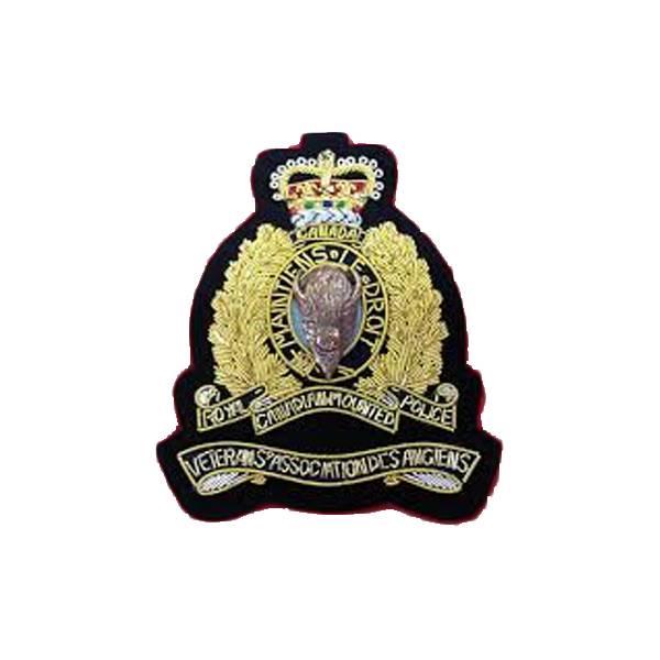 Emblazon RCMP Veterans Blazer Crest - on Blue