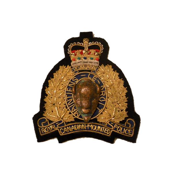 Emblazon RCMP Blazer Crest - On Blue