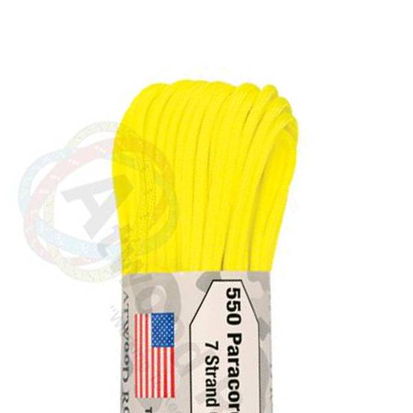 Atwood Rope MFG Atwood Rope MFG 550 Paracord 100ft - Neon Yellow
