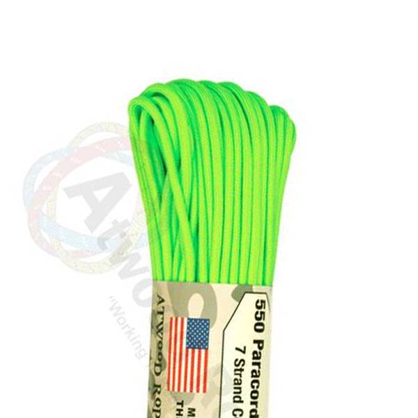 Atwood Rope MFG Atwood Rope MFG 550 Paracord 100ft - Neon Green