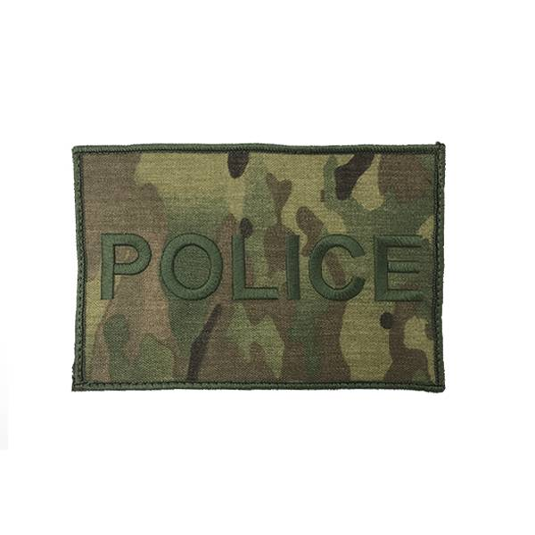 "DS Tactical Police Patch 4""x6"" Green on Multicam"