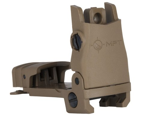 Mission First Tactical MFT Rear Back Up Sight (BUPSWR) Scorched Dark Earth