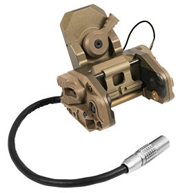 Wilcox L4 Series GSGM NVG Mount (No low battery indicator) - Tan