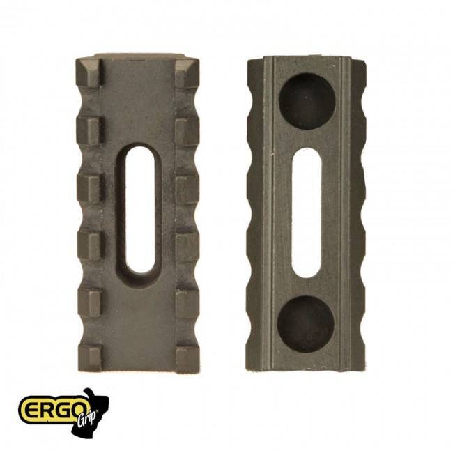 ERGO Grips ERGO 5-Slot X .400 Ultra Lite Aluminum U.M.P. M1913 Picatinny Rail (2 mounting holes)-black