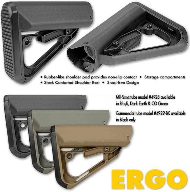 ERGO Grips ERGO Tactical Intent TI-7 Stock Mil Spec Tube - Dark Earth