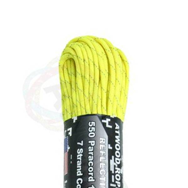 Atwood Rope MFG Atwood Rope MFG 550 Paracord 50ft - Reflective Neon Yellow