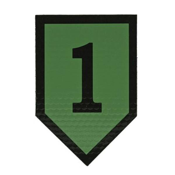 1st Infantry Division IR Patch, OD Green