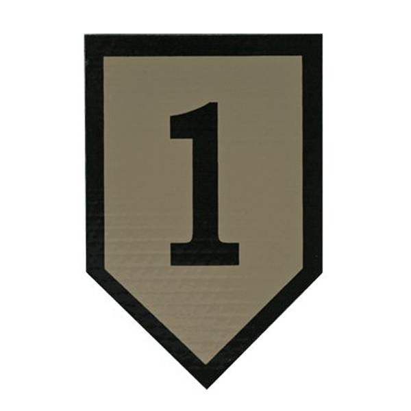 Cejay Engineering 1st Infantry Division IR Patch, Tan