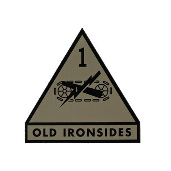 1st Armored Division OLD IRONSIDES IR Patch, Tan