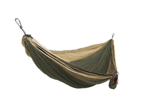 Grand Trunk Double Parachute Nylon Hammock - Olive/Khaki