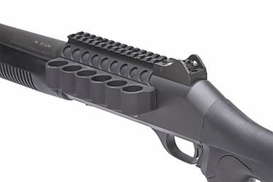 Mesa Tactical Mesa Tactical SureShell Aluminum Carrier and Rail for Ben M4 (6-Shell, 12-GA, 5½ in)