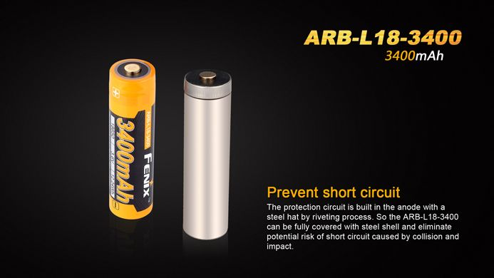 Fenix Fenix High-Capacity 18650 Battery 3400mAh