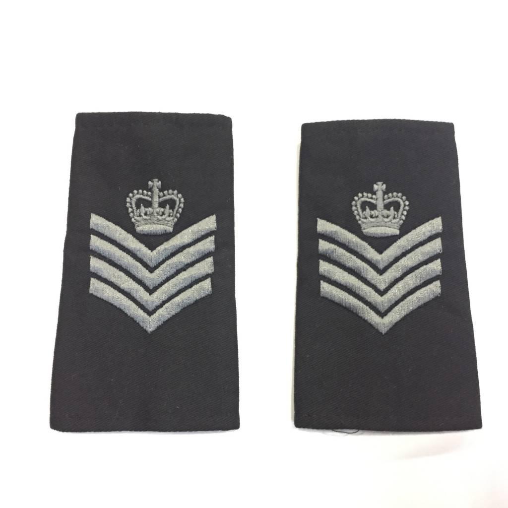 Custom Subdued Epaulettes, Sergeant Major, 1 Pair