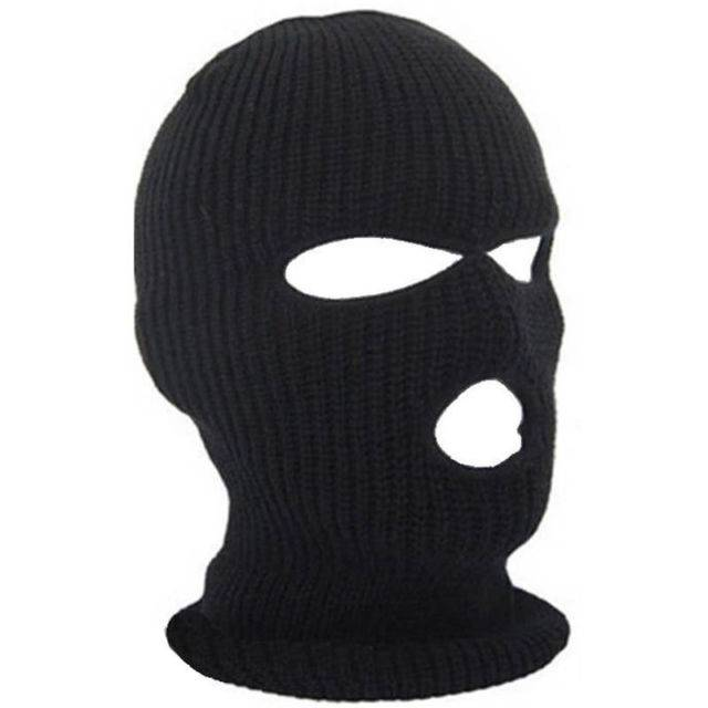 Black 3 Hole Balaclava