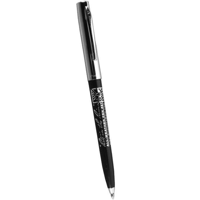 Rite in the Rain Rite In The Rain All Weather Pen - Clicker - Plastic Chrome - Black Ink