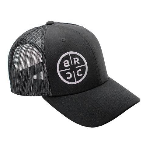Black Rifle Coffee Company INSTORE - BRCC Trucker Hat - Black with Black mesh - Black on Black