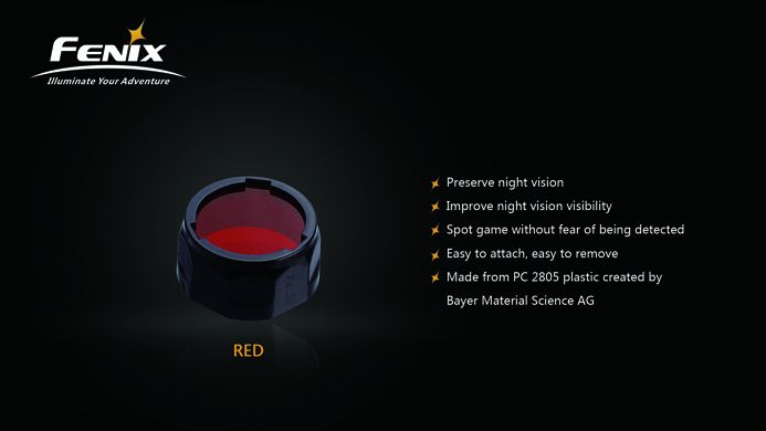 Fenix Fenix AOF-S+ Filter Adapter (Red)