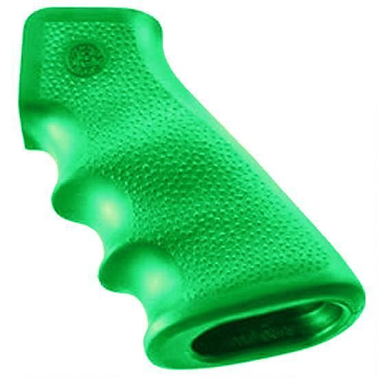 Hogue AR-15/M-16 Rubber Grip w/ Finger Grooves, Zombie Green