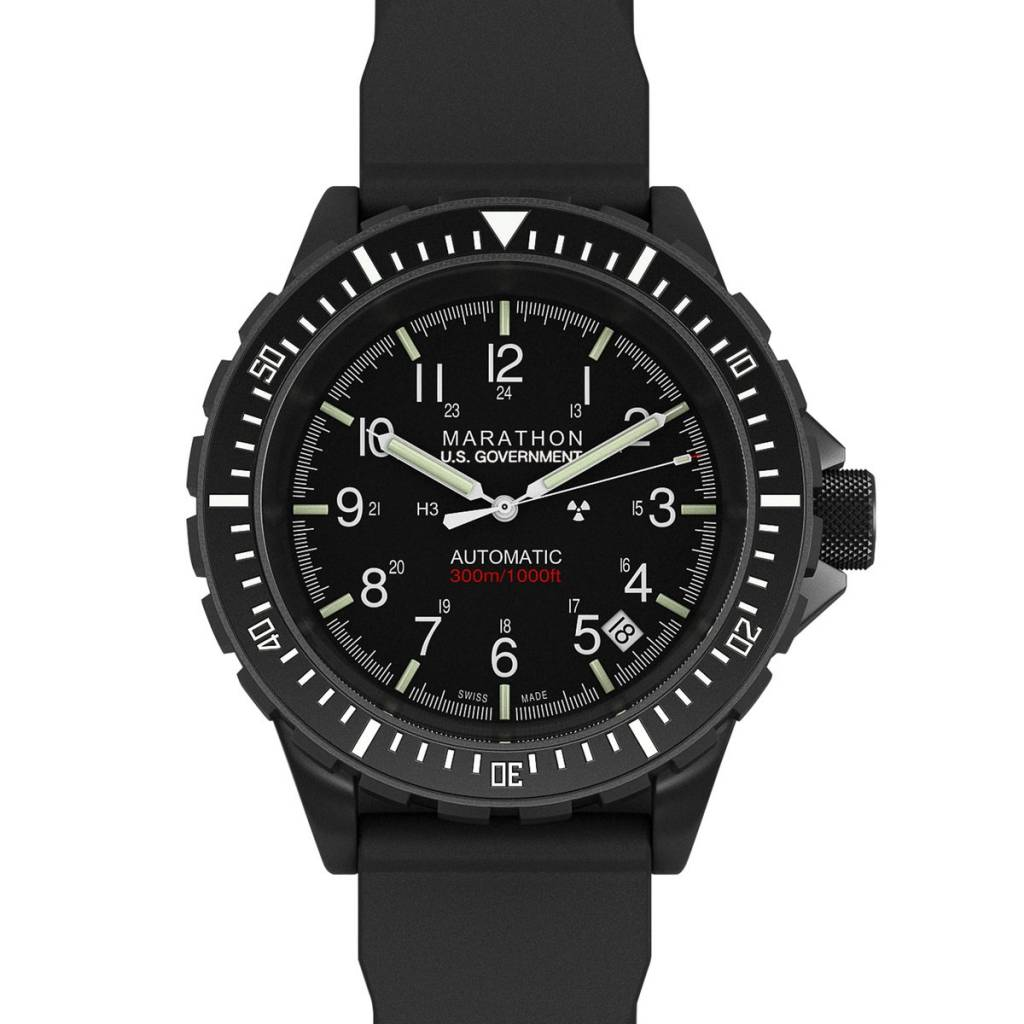 Marathon Watches Marathon Search & Rescue Diver's Automatic (GSAR) - Anthracite Black