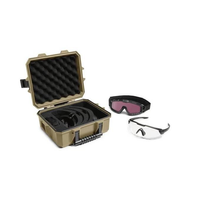 Oakley Oakley SI Ballistic M-Frame Alpha Operator Kit - Terrain Tan Strongbox - Matte Black/Clear