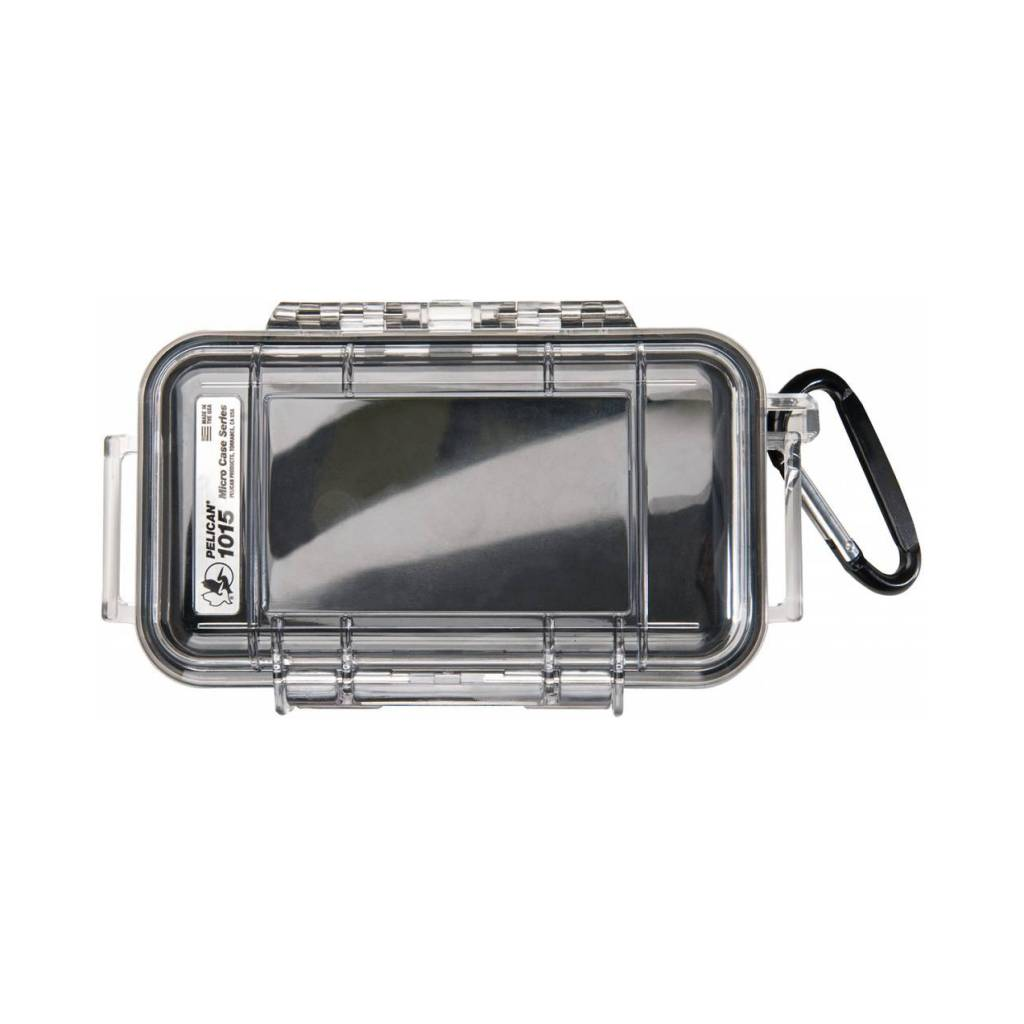 Pelican Products Pelican 1015 Micro Case with Liner, Black Liner, Clear