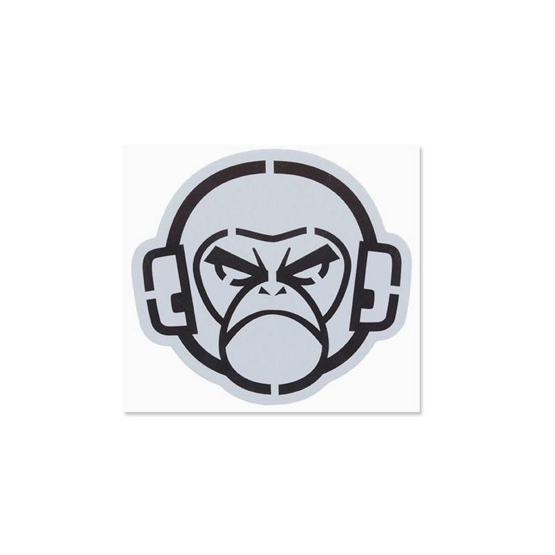 Milspec Monkey Milspec Monkey MSM Logo Stencil Decal, Black on Grey