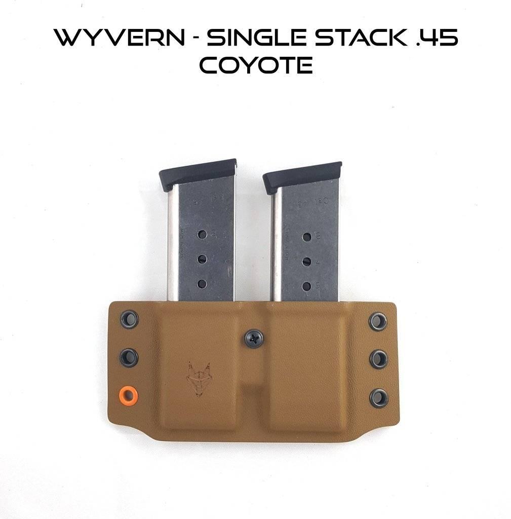 """Gray Fox Strategic Gray Fox Strategic Wyvern 1911 Single .45 Mag Carrier w/ 1.5"""" Belt Loops"""