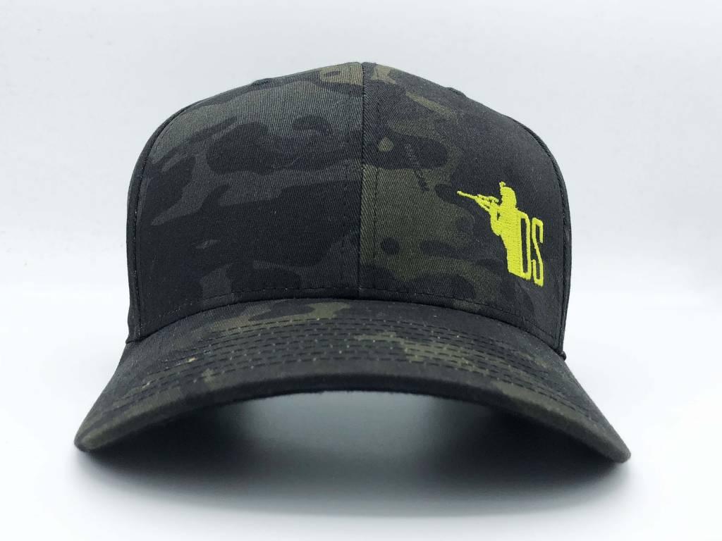 """DS Tactical DST """"Gun Guy"""" Logo Flex Fit Cap - Multicam Black"""